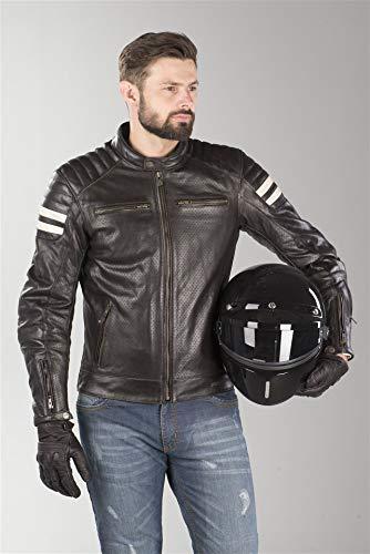 Segura Chaqueta moto STRIPE PERFO Marrón/Beige, Marrón/Beige, L