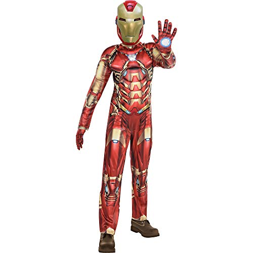 Party City Iron Man Halloween Costume for Boys, Marvel's Avengers Video Game, Small, Includes Jumpsuit, Gloves and Mask