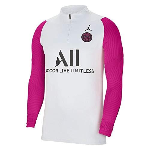 Nike PSG Paris Saint Germain - Sudadera de entrenamiento Jordan, color blanco y rosa, 2020-21 (L)