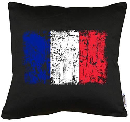 TShirt-People Frankreich Vintage Flagge Fahne Kissen mit Füllung 40x40cm