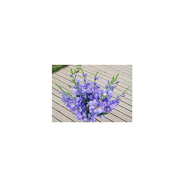 Falsa Flor De Seda Artificial Artificial Gladiolo 80cm Arte Azul Disposición