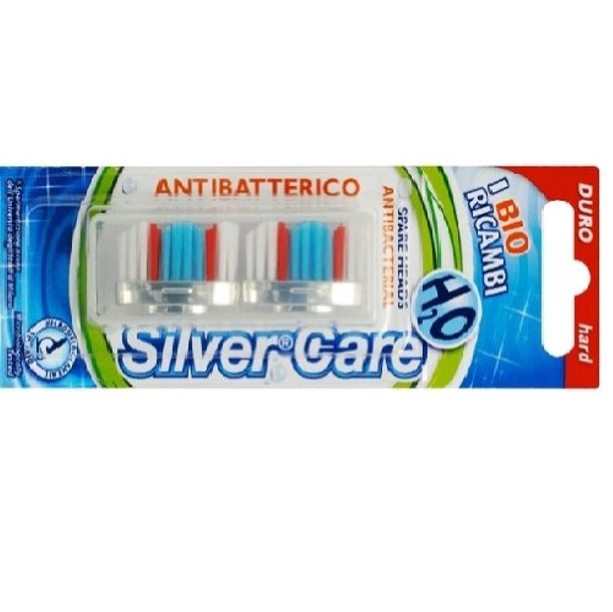 寄付アテンダント見落とすシルバー抗菌歯ブラシ スペア ハード
