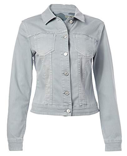 Vintage America Blues Women's Vintage Jean Jacket Reversible, Grey True Camo, XLarge