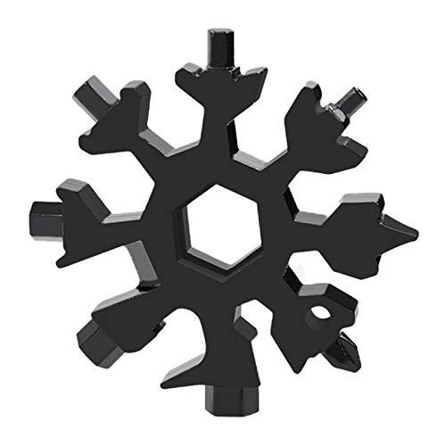 18-in-1 Schneeflocken Multi-Tool Edelstahl Multifunktionswerkzeug, tragbares Stahl Multi-Tool Schneeflocken Multi-Tool für Outdoor-Camping Abenteuer, Fahrrädern Geschenke für Männer