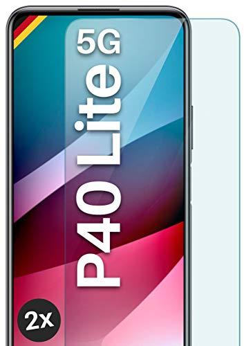 moex Panzerglas kompatibel mit Huawei P40 Lite 5G - Schutzfolie aus Glas, bruchsichere Bildschirmschutz Folie, Crystal Clear Panzerglasfolie, 2X Stück