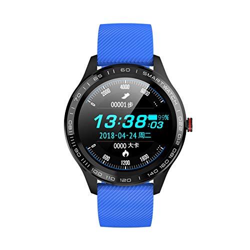 ZHENAO Smart Watch, Pantalla Redonda de Alta Definición de 1.3 Pulgadas de Alta Definición, Monitoreo de Sueño Todo el Día Pulsera de Negocios Inteligentes Multi-Deporte, para Andro