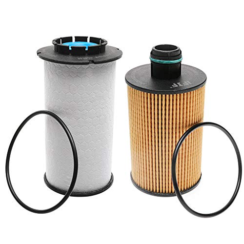 iFJF 68235275AA Fuel Filter and 68229402AA Oil filter Replacement for Ram 1500 2014-2019 3.0L V6 EcoDiesel Engine Replaces 68109834AA WF10245