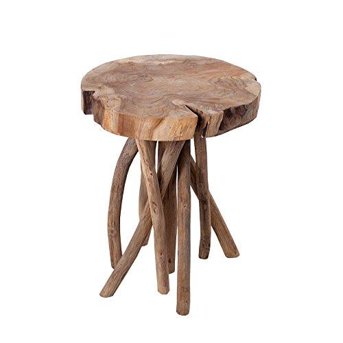 Invicta Interior Exklusiver Teakholz Beistelltisch Root 45cm massiver Hocker aus Wurzelholz Couchtisch Natur