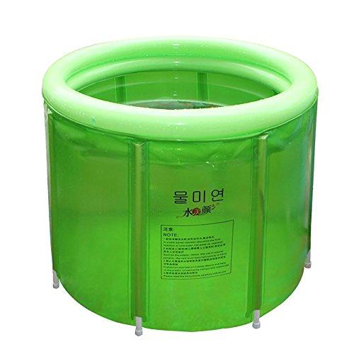 Folding bathtub-TOYM Großes grünes faltendes Badewannen-Duschbad-Eimer-Rahmen-transparentes Isolierungs-Fass mit Gas-Ring