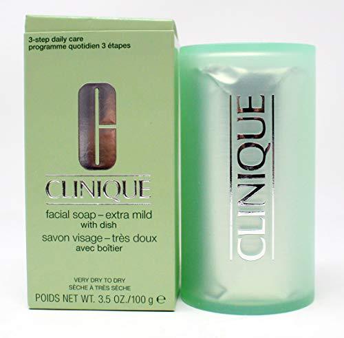 Clinique Facial Soap Mild with Dish, 5.2 Ounce