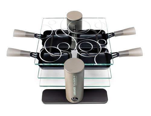 Maybaum R 4 Raclette in plastica e vetro con 4 padelline