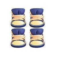 ASHDZ 犬の靴、テディ、ポメラニアン、ビション、VIP、小型犬、秋と冬のスリップ、ウェアラブル、カジュアルシューズ (Color : Dark blue, Size : 5#)