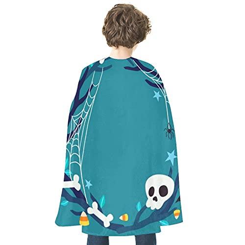 Disfraz de Halloween Cartoons118Personality Cloak Robe Colorido Halloween Mago Cabo Halloween Cosplay Disfraces Bruja Capa Halloween Props