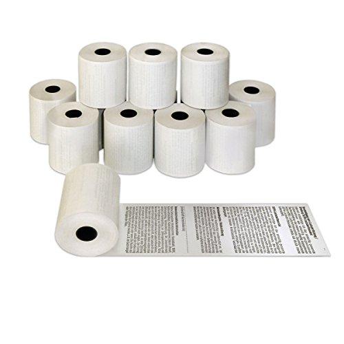 50 x EC Bonrollen phenolfrei 57mm x 25m x 12mm | Ø45mm | bedruckt SEPA TEXT | EC Cash Thermorollen BPA frei 57x25x12 | Telecash | HUTNER