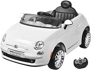 Eco Toys Fiat 500 Wit Elektrische Kinderauto 651R