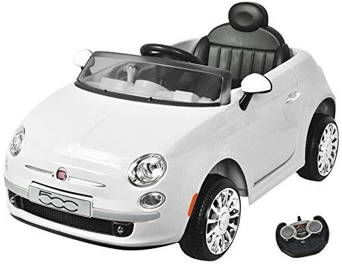 MamaLoes Eco Toys Fiat 500 Wit Elektrische Kinderauto