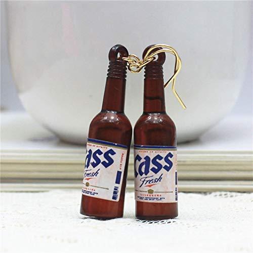 ZHQJY Design Mode Merk Sieraden Gepersonaliseerde Bier Fles Oorbel Glas Oorbel Voor Vrouwen Gift