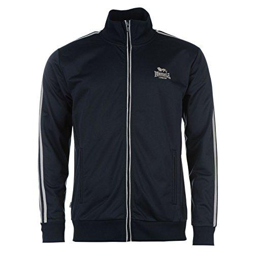 Lonsdale Herren Trainingsjacke Jacke Sportjacke Sport Freizeit Reissverschluss Navy/Grey Extra Sml