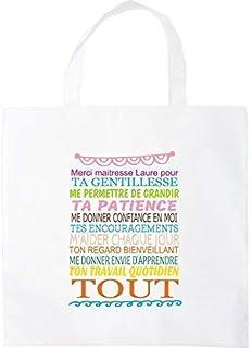 Sac shopping tote bag merci maitresse personnalisable
