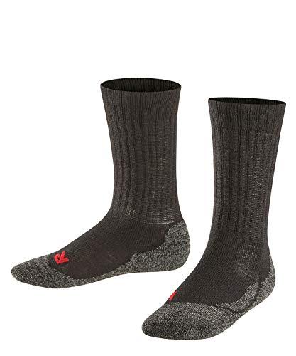 FALKE Unisex Kinder Socken Active Warm, Merinowolle, 1 Paar, Schwarz (Black 3000), 23-26 (2-3 Jahre)