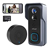 Wireless Video Doorbell Camera, ieGeek 1080P Video Doorbell with 32GB SD Card, Motion Detector, IR Night Vision, Indoor Chime, 2-Way Audio, 166° Wide Angle, Rechargeable Battery, IP65, for iOS&Android