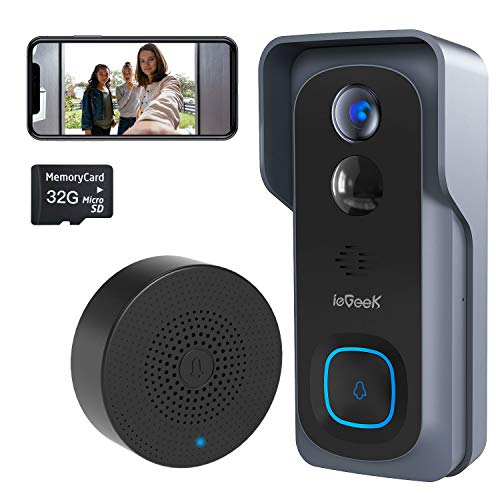 ieGeek Video Doorbell Camera Wireless, WiFi Smart Door Camera with Motion...