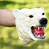 TwoCC Animal Hand Puppets Cosplay Kids Realistic and Funny Animal Head Peluches (D)