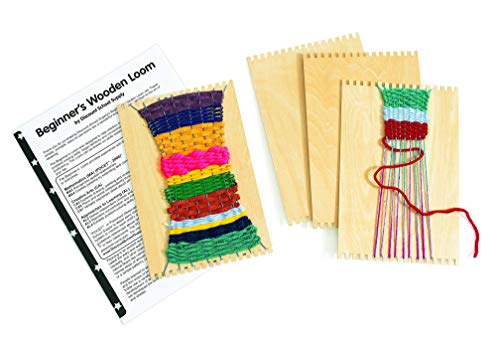 Colorations RLOOM Beginners Wooden Loom, Set of 12, for Kids, Arts & Crafts, Weaving, Craft Activity, Motor Skills, Critical Thinking, Basket, Jewelry, Crochet, Teaching, Educational