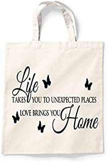 Tote Shopping Bag Gift Life Takes You To Unexpected Places Shopper Bag Cool Printed Shopper Bag Gift Secret Santa Bag For Life Novelty Gift Idea Present