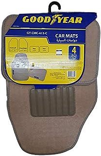 GoodYear Car Mat Carpet Set of 4 Pieces- Tan (Beige)