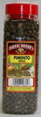 Jamaican Whole Pimento Seeds Large 13 oz container with robust flavor Use for pickels, soups, stews, meat, poultry and fish dishes