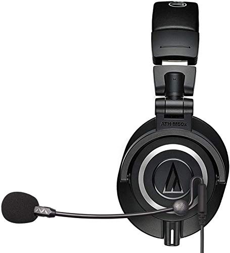 Audio-Technica ATH-M50x Closed-Back Monitor Headphones (Black) Bundle with Antlion Audio ModMic Uni with Mute Switch, and Blucoil Y Splitter for Audio, Mic
