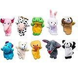 Fingerpuppen Set niedliche Tier-Art-weiche Plüsch-Tierbaby-Story Time Fingerpuppen Scheinen für Kinder Spielzeit Schulen Packung mit 10 -