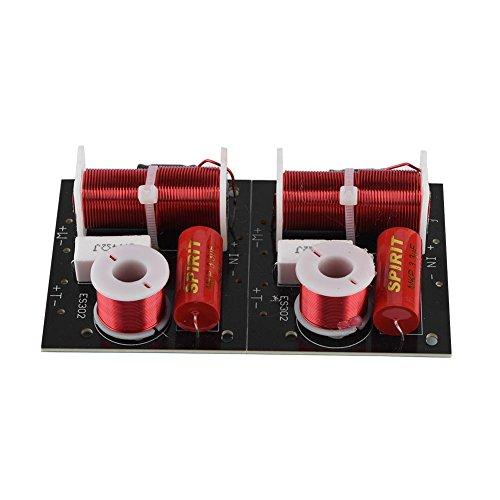 Zerone 2 Stücke Lautsprecher Frequenzteiler 2 Way Höhen/Bass 2 Einheit 2 Einheit Hi-Fi Audio Crossover Filter Frequenz Distributor DIY Modul