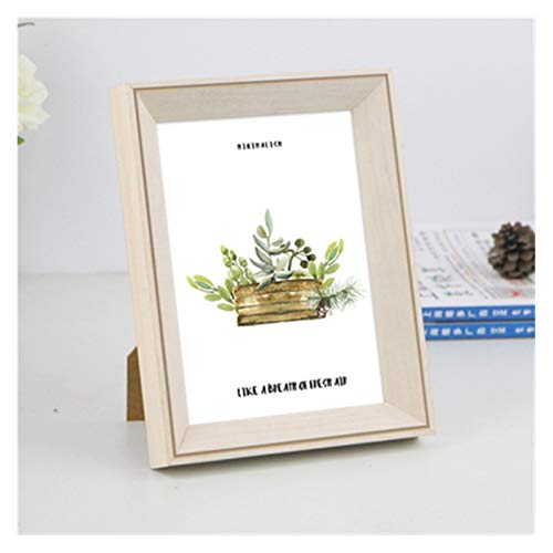 Agnes Bruce Photo Frames Resin Photo Frame With Wood Grain 1pcs 5 10 Inch Table Wall Hanging Picture Frames Wedding Gift (Color : Light Grey, Size : 7 inch 12.7x17.8cm)