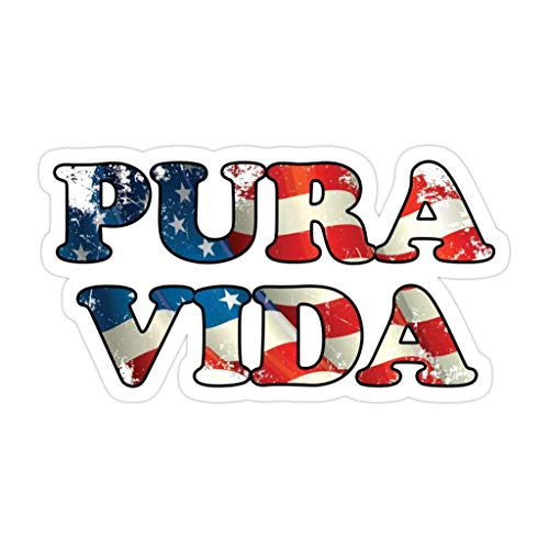 DKISEE 3 piezas Pura Vida Bandera de Estados Unidos – Pegatinas troqueladas de 4 pulgadas para laptop, ventana, coche, parachoques, botella de agua