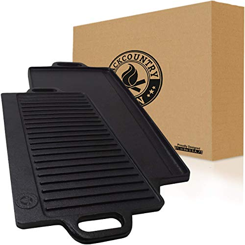 Backcountry Cast Iron Skillet - Reversible Grill.