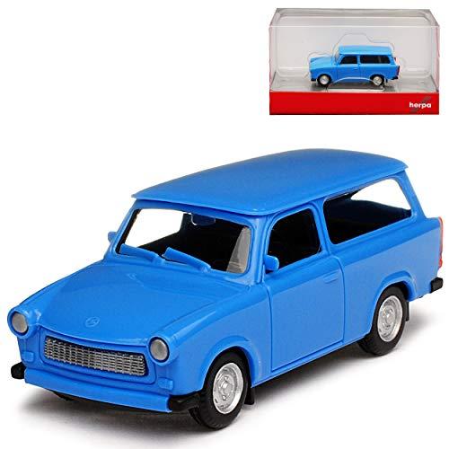 Herpa Trabant 601 S Kombi Universal Blau 1964-1990 H0 1/87 Modell Auto mit individiuellem Wunschkennzeichen