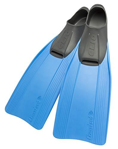 Cressi Clio Premium Aletas para Buceo, Snorkeling y Natación, Unisex, Azul, 27/29