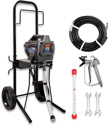Templeton V20 Airless Paint Sprayer with Cart, 5/8 HP Motor, 33' Hose, 3000 PSI, Spray Nozzle