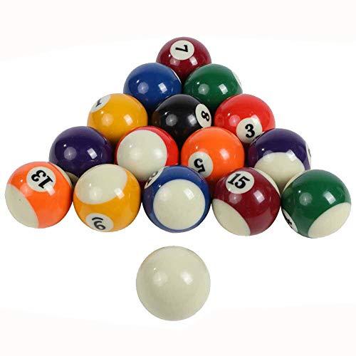 TGA Sports Billiard Balls Pool Balls Set, 1.5-Inch Billiard Balls Set...