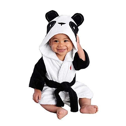 Longra Pyjama Combinaison À Capuchon Bébé - Peignoir Animal Garcon Fille - Confortable Coton Manche Longue Chaud Peluche Sortie de Bain AVCE Ceinture (12-18 Mois et 4-5An)