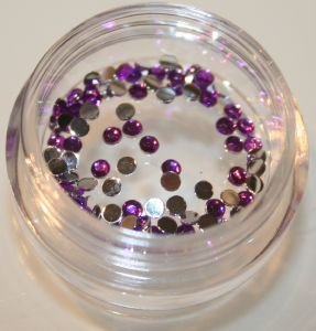 100 Strass Violet - conditionnementstrass : 20 STRASS EN SACHET