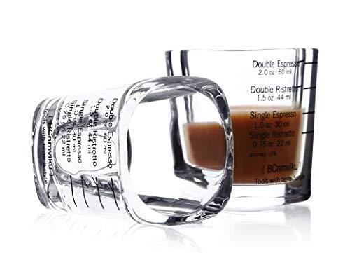 ショットグラス エスプレッソ60ml/2oz 計量カップ 目盛り付き 厚み強化 耐熱ガラス製 お酒グラス ワイングラス エスプレッソマシン 居酒屋 レストラン カフェ (2)
