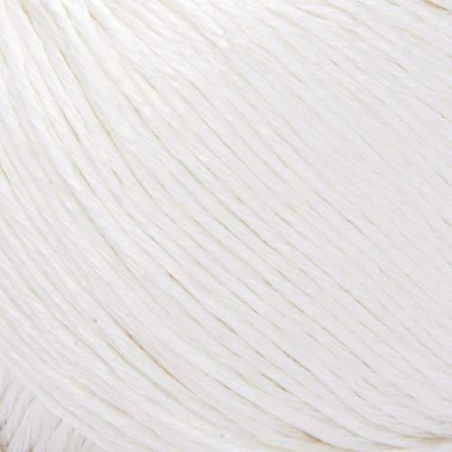 ggh Mystik, Farbe:001 - Weiß, Baumwolle, Viskose Mischung, 50g Wolle als Knäuel, Lauflänge ca.110 m, Verbrauch 600g, Nadelstärke 3,5-4,5, Wolle zum Stricken und Häkeln