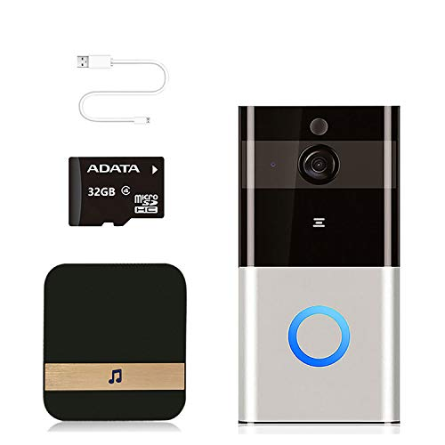 AWQM Video Doorbell Camera Wireless 1080P HD Smart WiFi Doorbell with Door Chime, 2-Way Audio & 32G Memory Card, Night Vision, IP65 Waterproof, Advanced Motion Detection Visual for Home Security