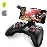 ゲームパッド Bluetooth コントローラー iOS/Android ワイヤレス 荒野行動PUBG Mobile対応 スマホコントローラー グリップ式 連射機能搭載 ダブルジョイスティック スマホゲームパッド 日本語取扱説明書付き