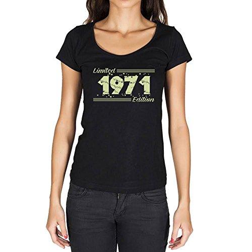 1971 Cumpleaños de 50 años Limited Edition Star Mujer Camiseta Negro Regalo De Cumpleaños