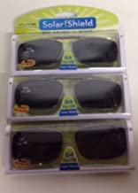 3 Solar Shield Clip-on Polarized Sunglasses Size 54 rec 19 Black Full frame
