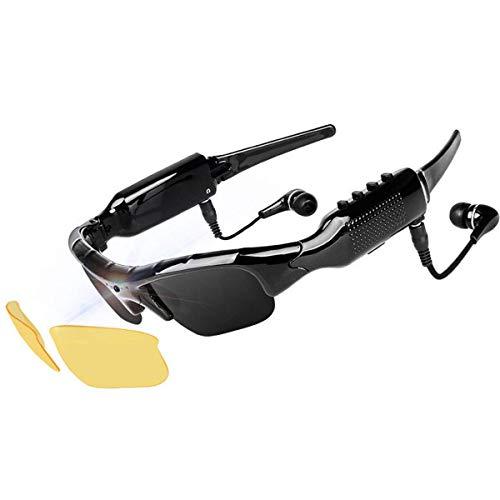 CCVV Zonnebril camcorder, 1080P mini-videocamera met wissel Night Vision lenzen voor sport in de open lucht rijden, paardrijden, vissen, motorfiets